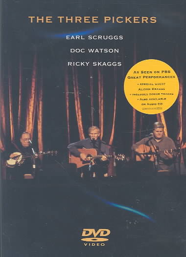 THREE PICKERS BY SCRUGGS/WATSON/SKAGG (DVD)
